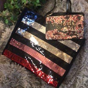 Victoria's Secret Tote bag & small case
